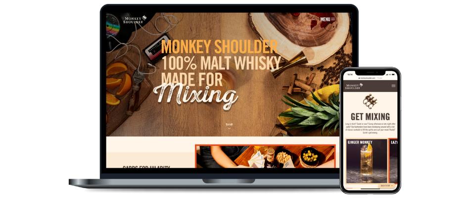 Monkey Shoulder new site launch image