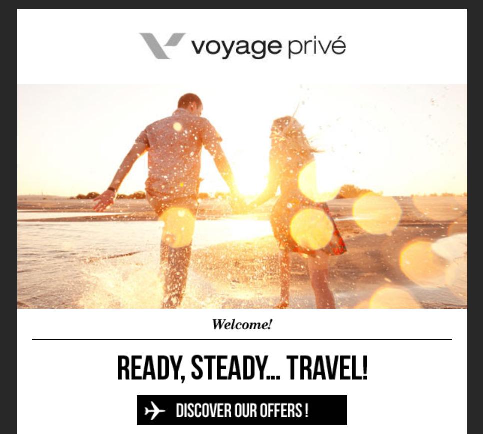 Voyage Prive newsletter