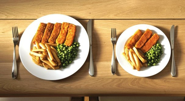 Nudge smaller plates help weight loss image