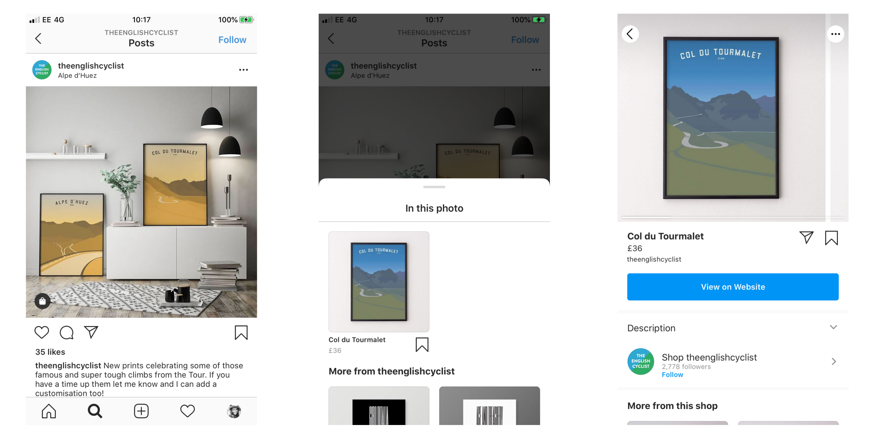 Social ecommerce instagram example image